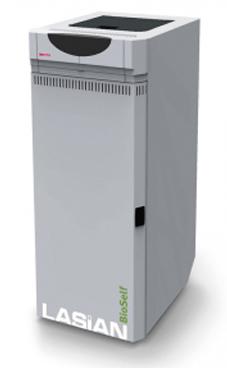 LASIAN BIOSELF 18 caldera de pie modulante de policombustibles sólidos(pellets, cascara de almendra, orujillo, hueso de oliva,etc,...) de 18 KW.solo calefacción.(15.480 Kcal./h.)